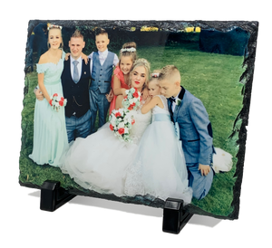 Slate photo display - 15cm x 20cm Gloss or matte finish