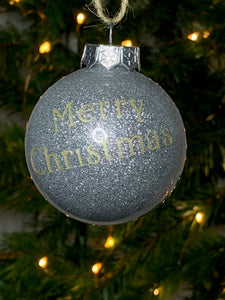 Christmas Tree Baubles - Personaliased