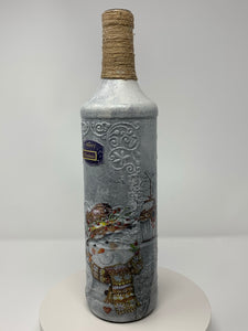 Decorative Snowman theme bottle