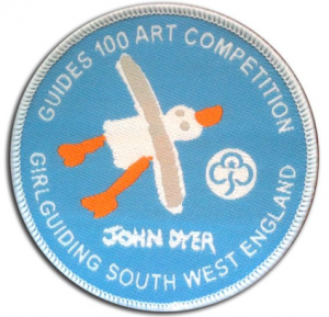 Embroidered John Dyer Badge to celebrate 100 years of Girl Guiding