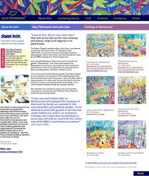 John Dyer Designs Alan Titchmarsh's New web site