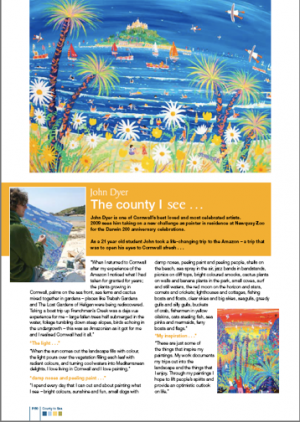 "Celebrated artist John Dyer talks to ""County to Sea"" about his view of Cornwall"