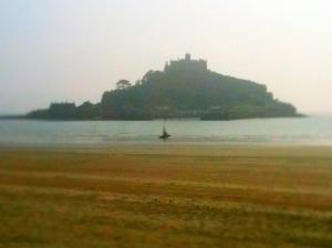 The light yesterday across St Michael's Mount was really magical