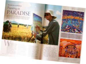 Artists and Illustrators Magazine write major feature on John Dyer's Environmental paintings