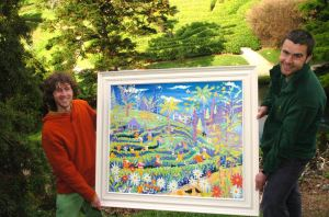 The National Trust purchase John Dyer painting of the maze at Glendurgan Garden in Cornwall