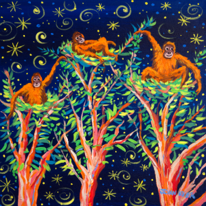 John Dyer Orangutan limited editions support Born Free