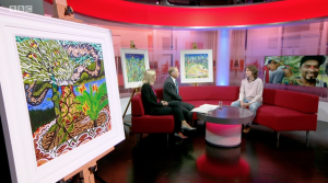 BBC TV feature John Dyer's Last Chance to Paint Exhibition at the Eden Project