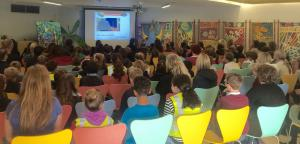 John Dyer Inspires 100 young artists at the Eden Project