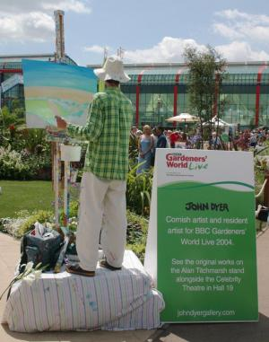 John Dyer Resident artist at BBC Gardeners' World Live 2004
