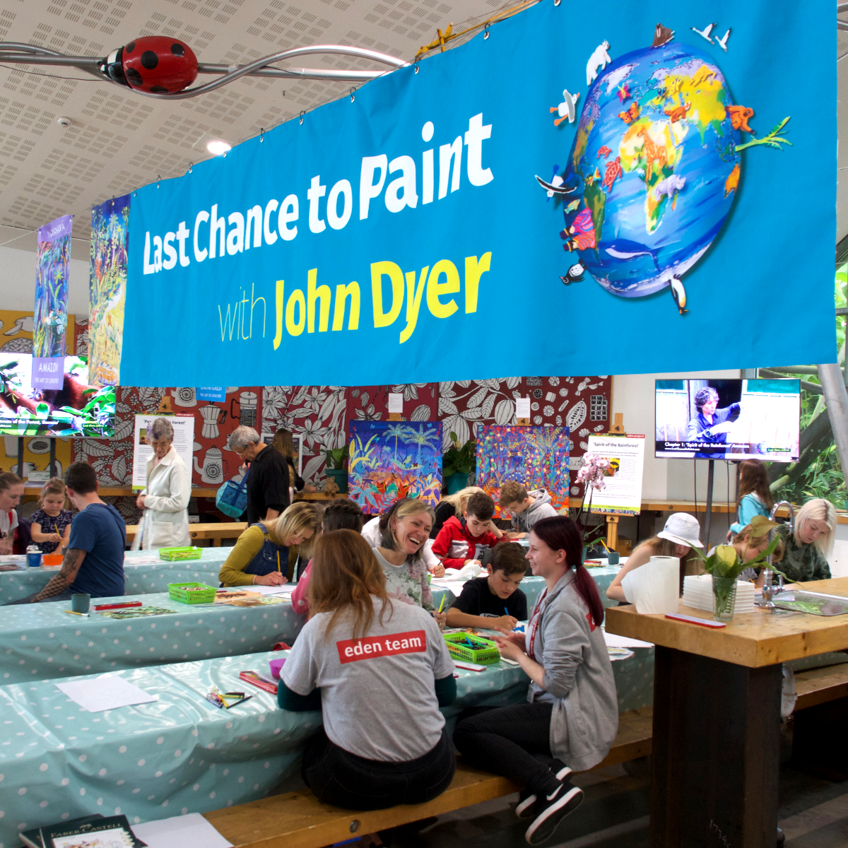 John Dyer Last Chance to Paint Exhibition at the Eden Project