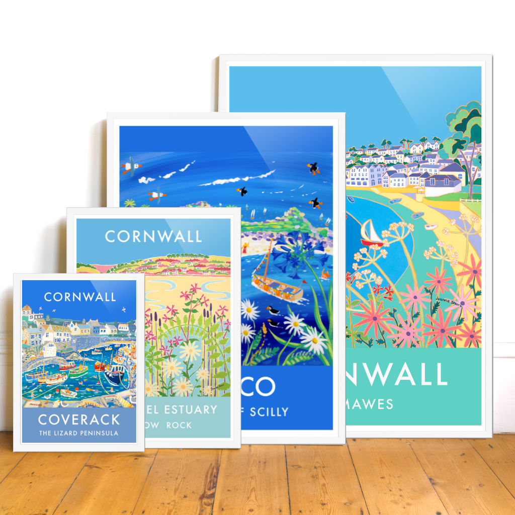 Cornish Retro and Vintage Style Wall Art Seaside Travel Posters of Cornwall