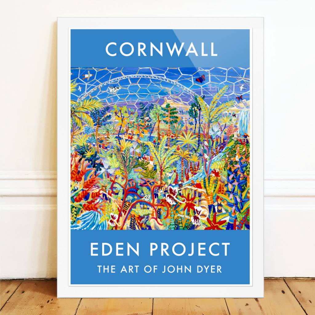 John Dyer art poster of the Eden Project in Cornwall