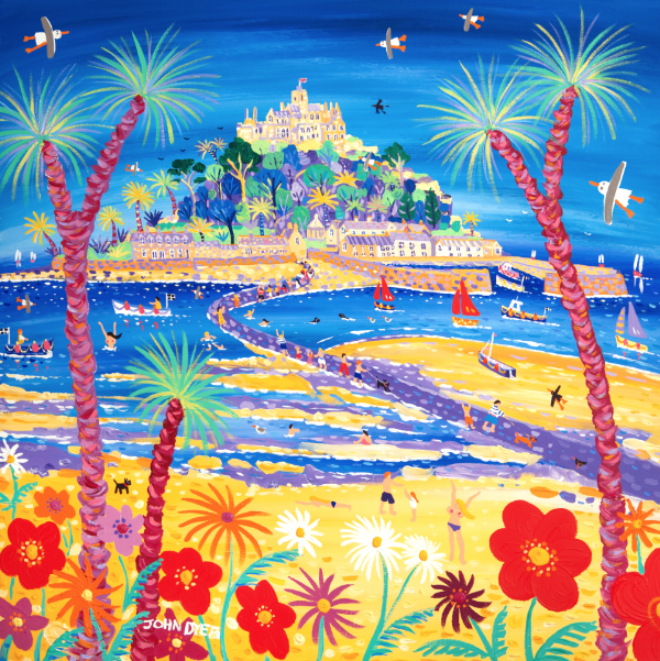 John Dyer signed limited edition print of St Michael's Mount in Cornwall