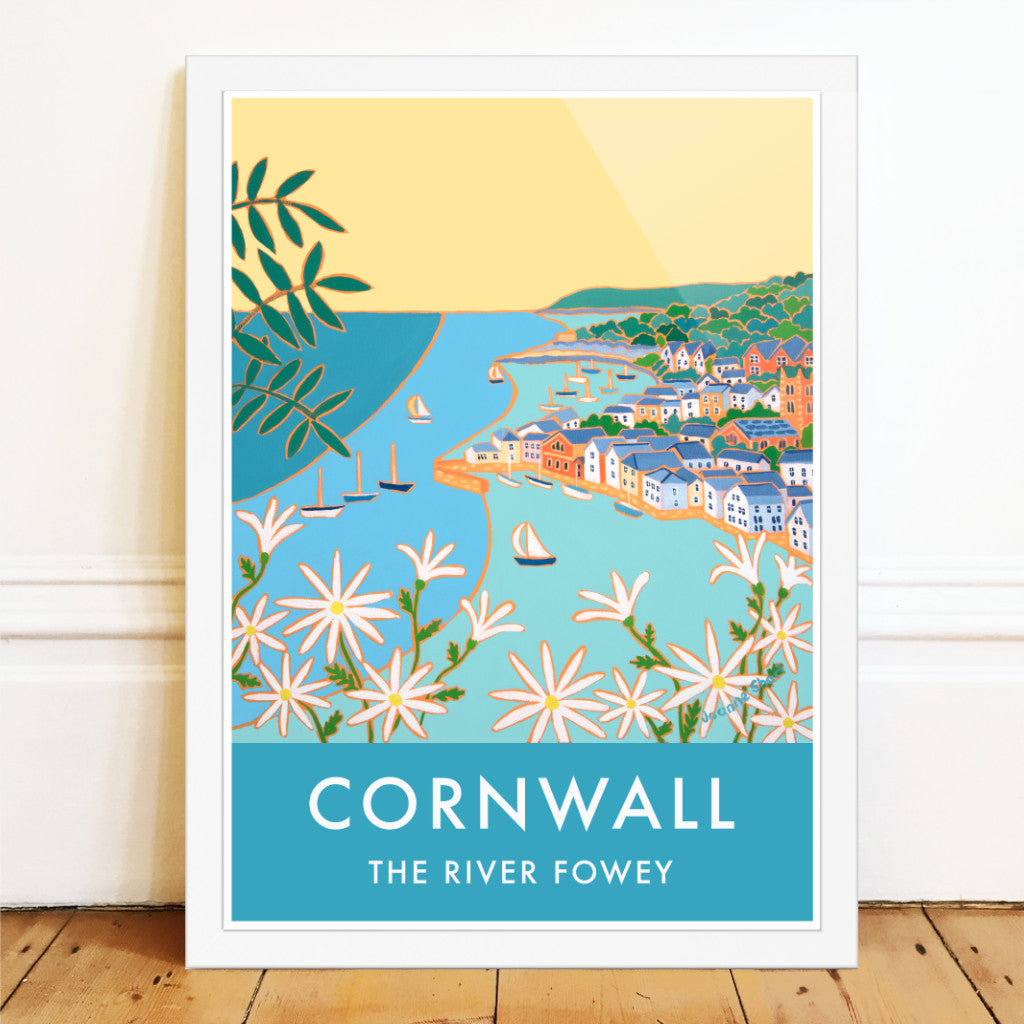 Joanme Short art poster of the river fowey in Cornwall