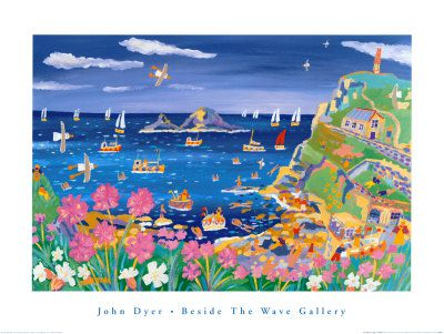 John Dyer Art Group Beside The Wave Gallery art poster of Cape Cornwall