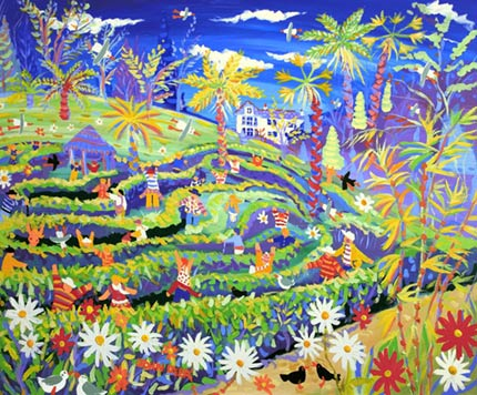 John Dyer painting of the maze at National Trust Glendurgan Gardens