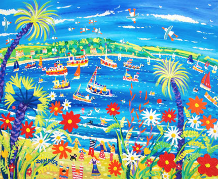 John Dyer painting of the Carrick Roads and Fal river in Falmouth