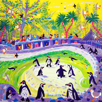 John Dyer painting of Penguins