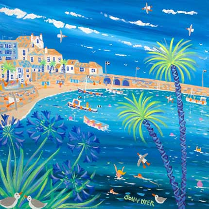 John Dyer painting of St Ives Harbour in Cornwall