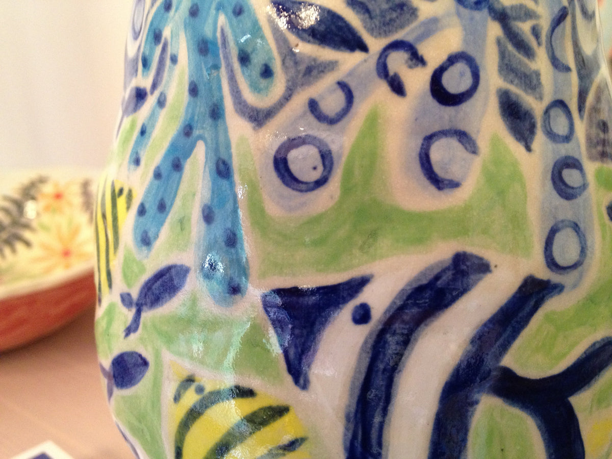 Joanne Short Ceramic Vase. Fish