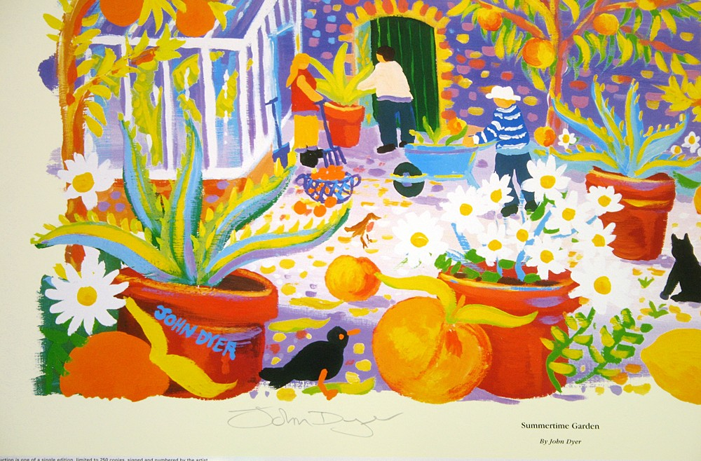 Limited Edition Print by John Dyer. Summertime Garden. The Lost Gardens of Heligan, Cornwall.
