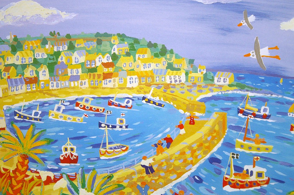 Limited Edition Print by John Dyer. Teatime Treats, Mousehole, Cornwall.