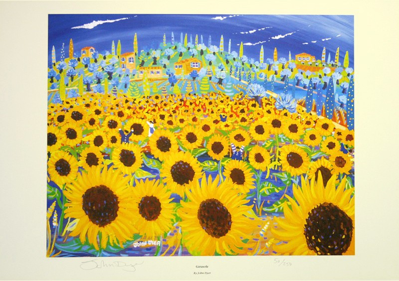 Limited Edition Print by John Dyer. Girasole (sunflowers), Italy.