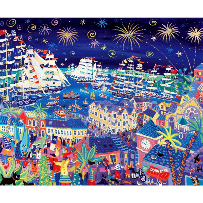 The Official Print for the Falmouth - Royal Greenwich Tall Ships Regatta 2014 by John Dyer