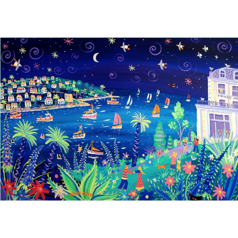 Dancing in the Moonlight, Fowey, Cornwall. Limited Edition Print by John Dyer