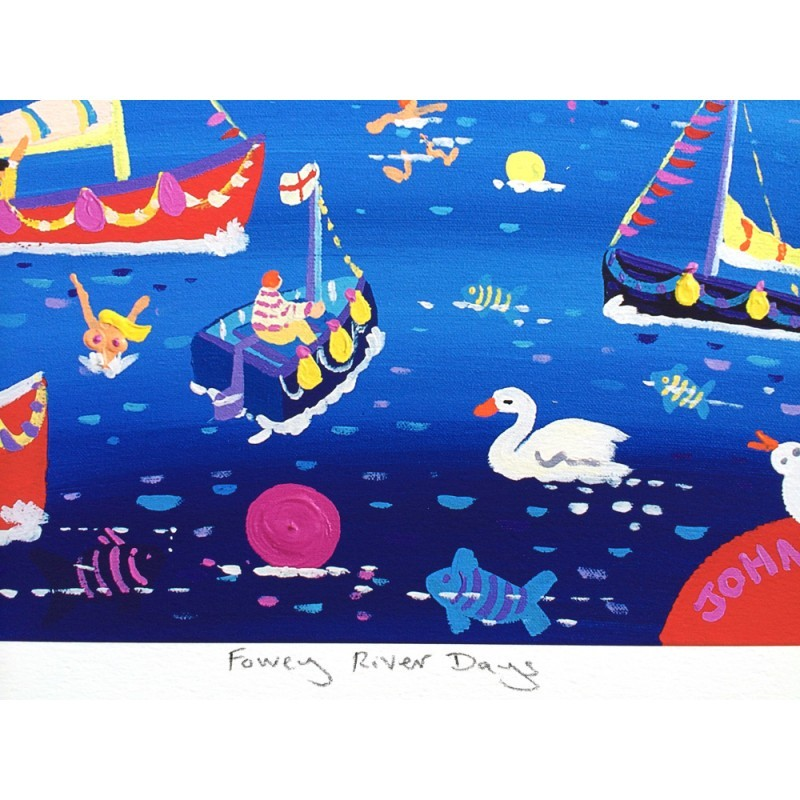 Limited Edition Print by John Dyer. Fowey River Days.
