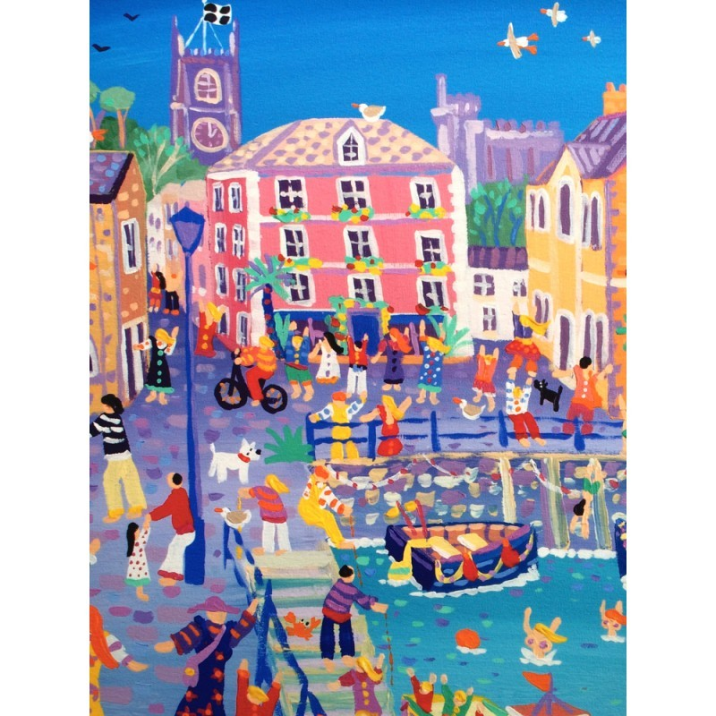 Limited Edition Print by John Dyer. Happy Holidays, Fowey.