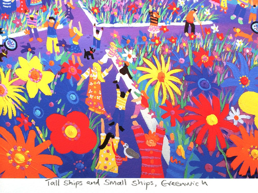 Limited Edition Print by Artist in Residence Tall Ships Regatta John Dyer. Tall Ships & Small Ships, Greenwich, London.
