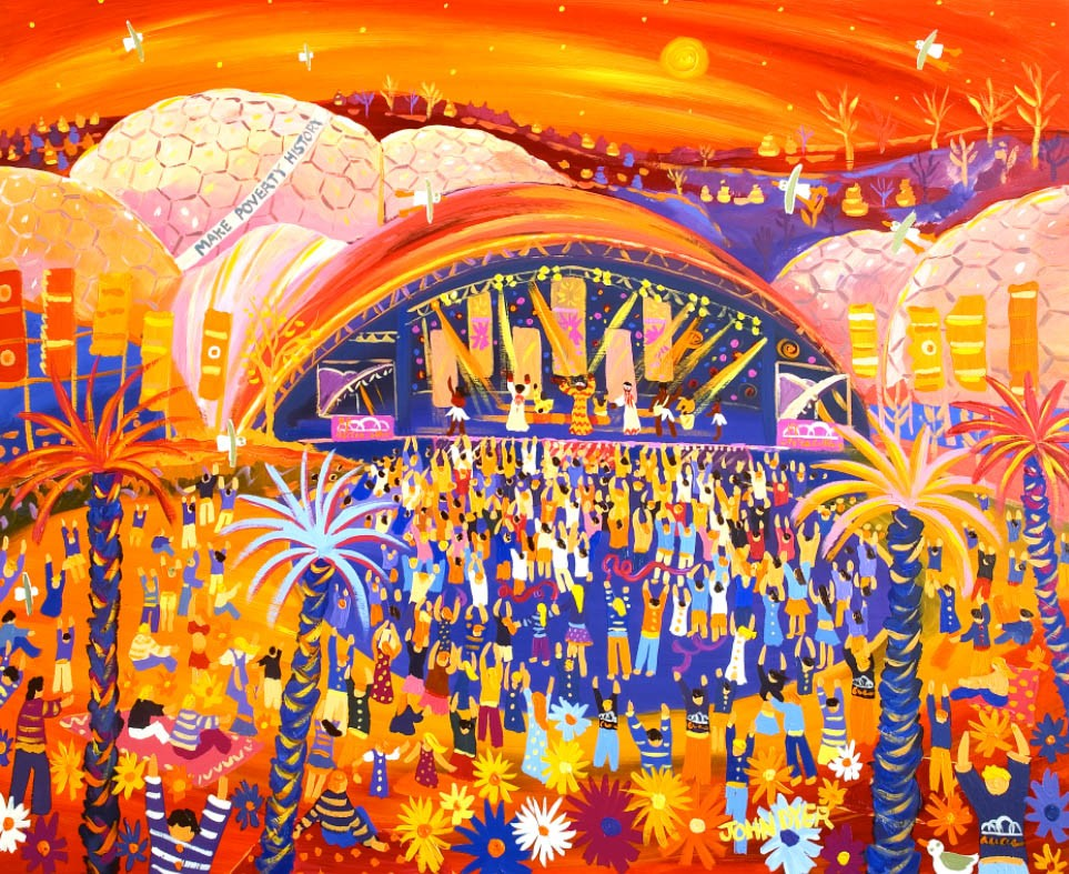 Limited Edition Print by Eden's Painter in Residence John Dyer. Africa Calling, Live 8, The Eden Project.