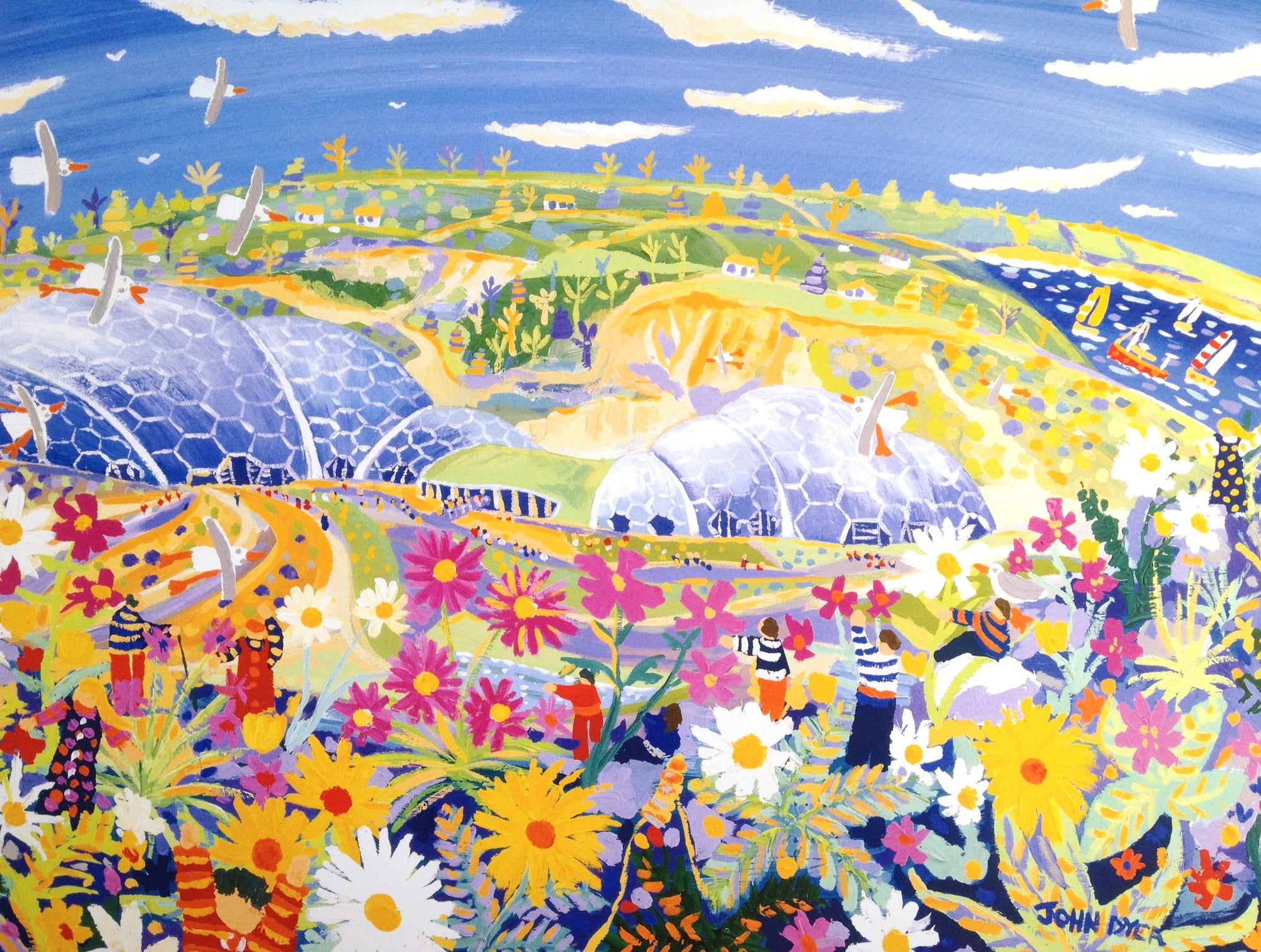 Wild Cornwall, The Eden Project. Official Signed Print by John Dyer