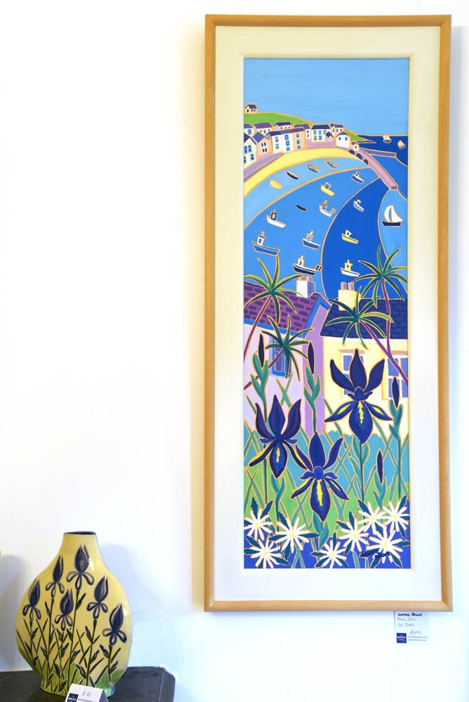 Joanne Short Painting. Blue Iris, St Ives. Cornwall.