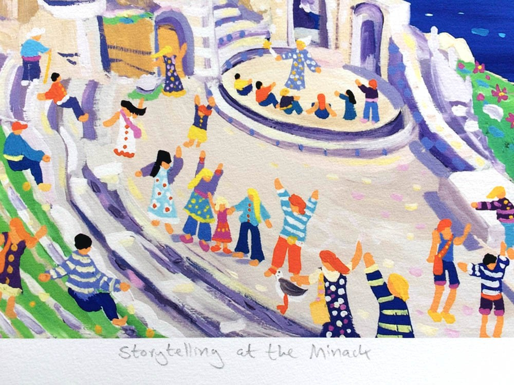 Limited Edition Print by John Dyer. Storytelling at the Minack, Cornwall.