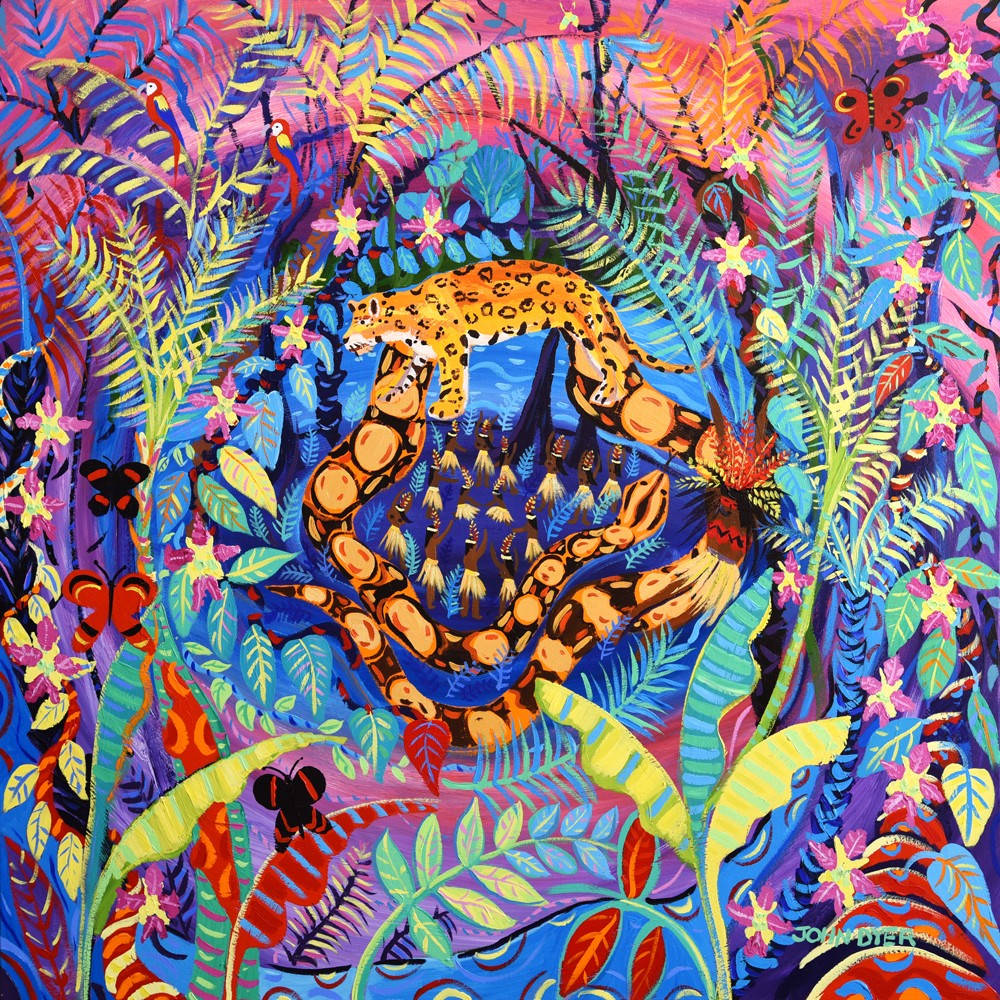 Original Painting by John Dyer. Nawê. Painting inspired by the Yawanawá Tribe. Amazon Rainforest.