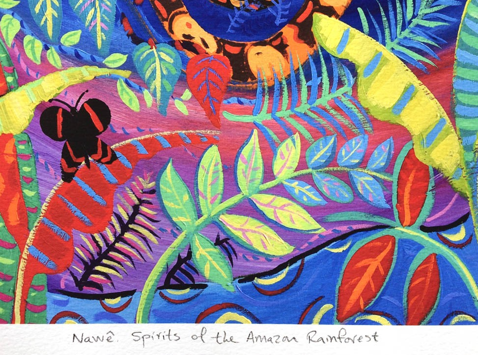 Limited print by artist John Dyer. Nawê - Spirits of the Amazon Rainforest.