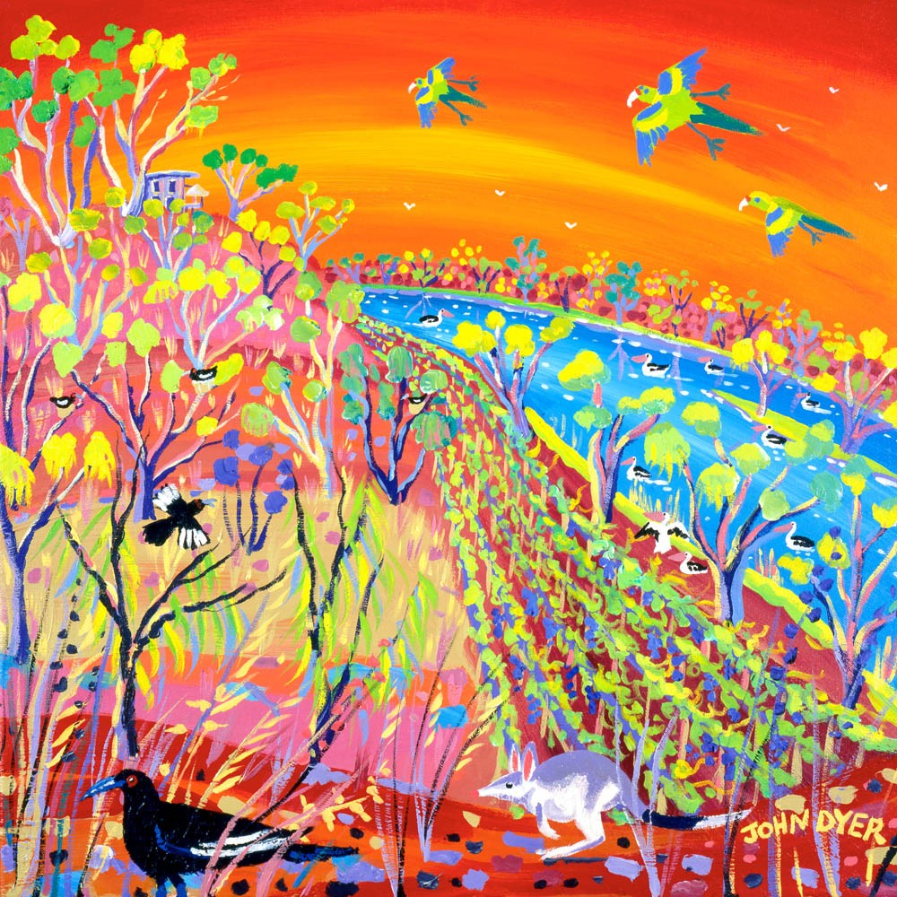 Banrock station wildlife in Australia. Art print by John Dyer