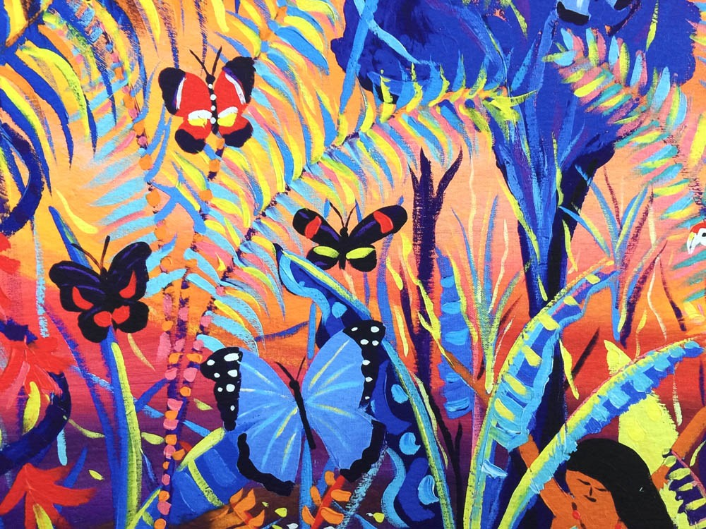 Vana - The Amazon Rainforest Spirit of our Shadows. Limited print by artist John Dyer