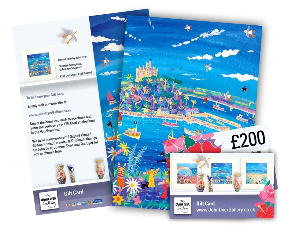 Gift Card and Voucher for The John Dyer Gallery