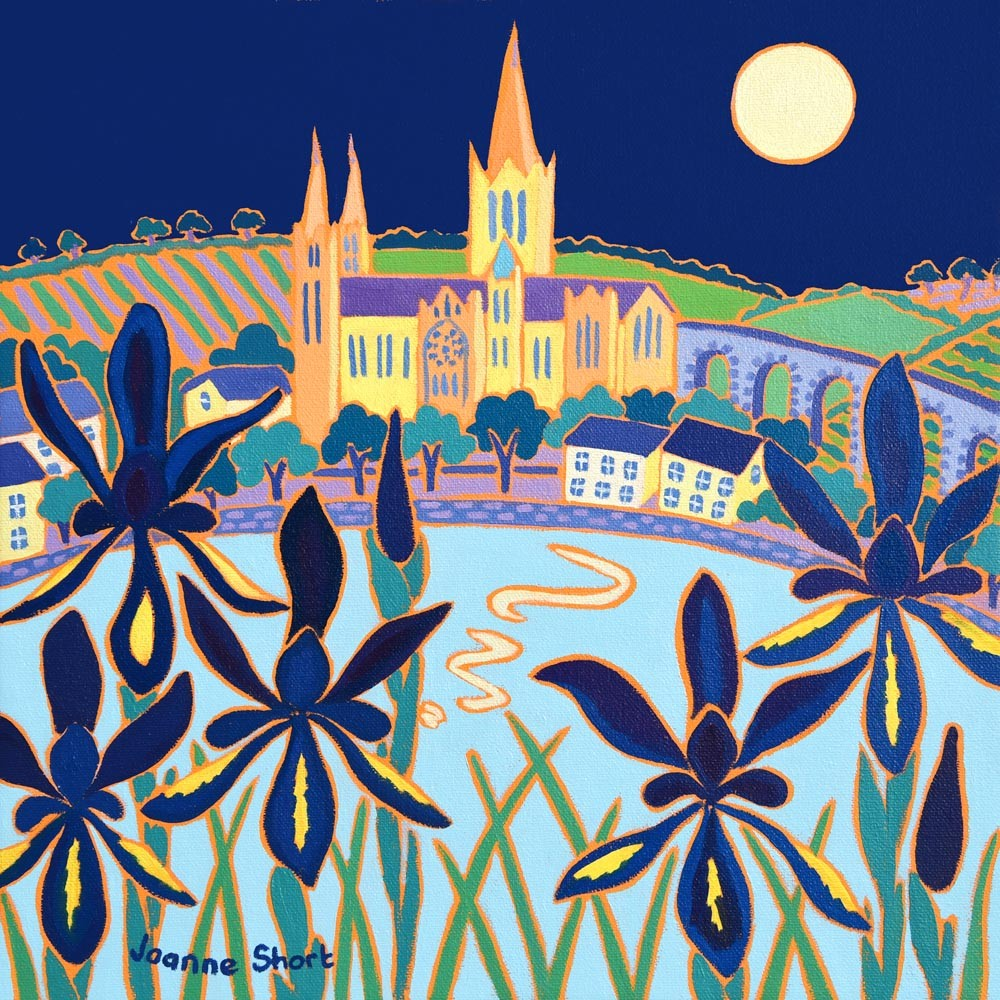 Limited Edition Print by Joanne Short. Moonlit Cathedral, Truro.