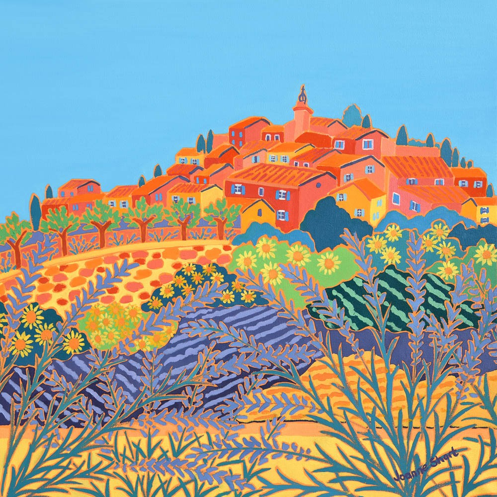 Original painting by Joanne Short. Summer Sunshine, Roussillion, Provence.
