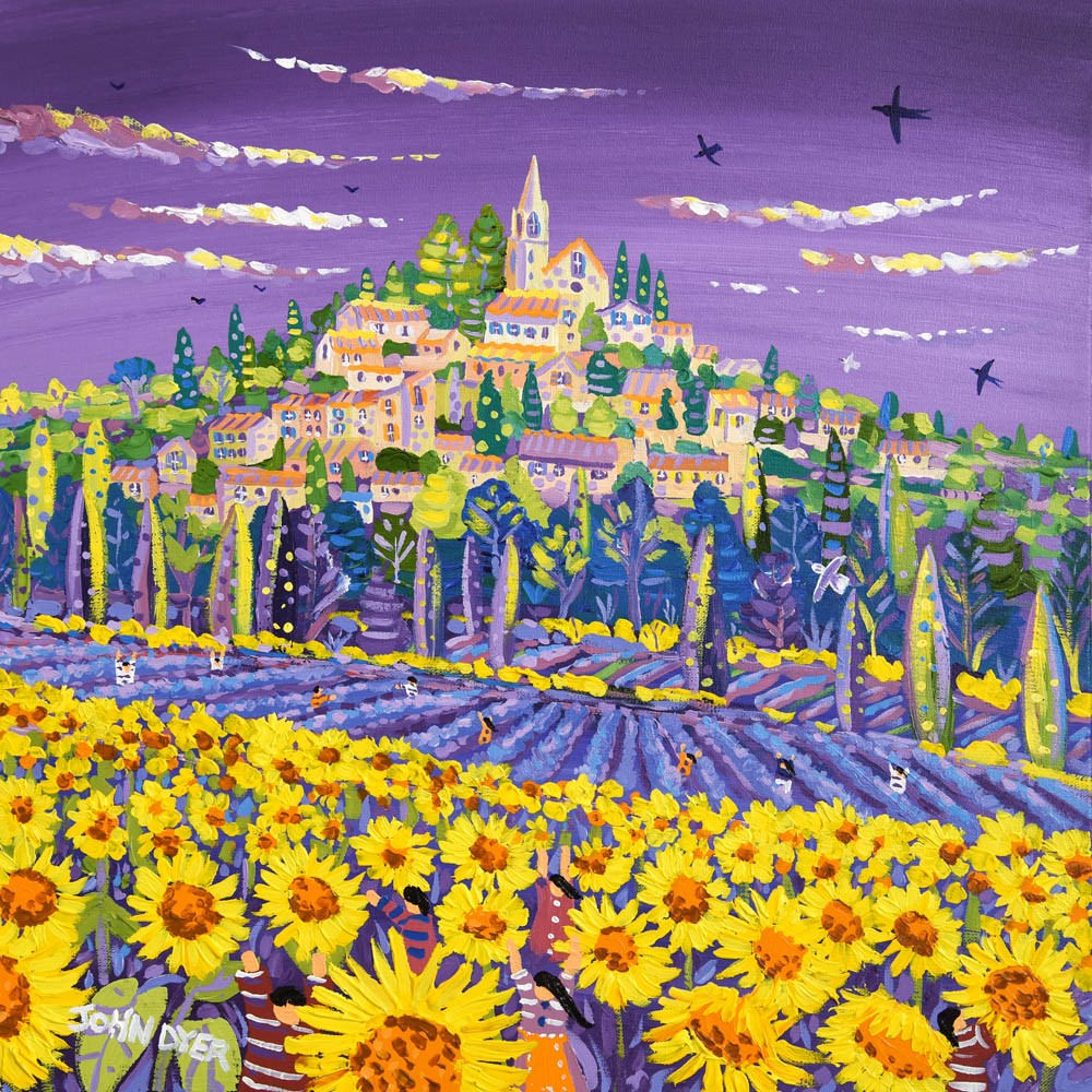 Original Painting by John Dyer. Fields of Colour, Bonnieux, Provence.