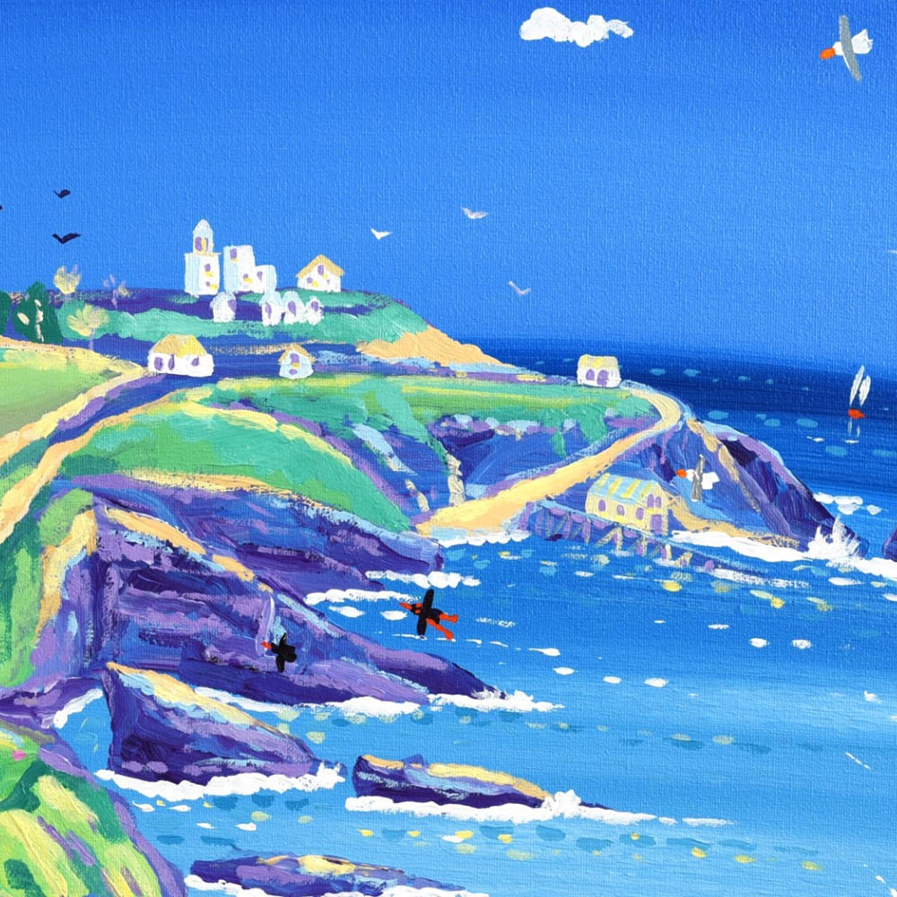 Limited Edition Print by John Dyer. Racing to the Lizard Lighthouse, Cornwall.