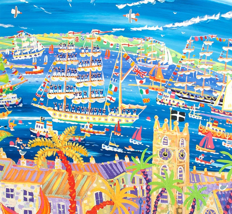 Tall Ships and Small Ships 2008 Falmouth. Official Limited Edition Print for Tall Ships Regatta by John Dyer