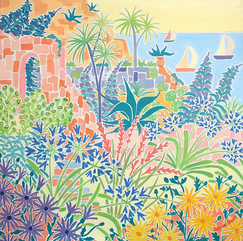 Original Painting by Joanne Short. A Secret Garden, St Michael's Mount, Cornwall.