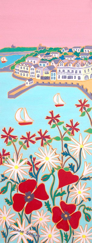 Original painting by Joanne Short. Perfect Summer Morning, St Mawes.