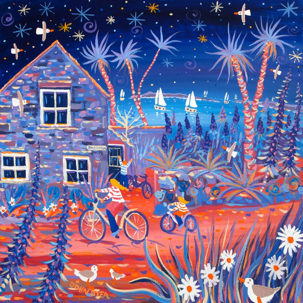 Limited Edition Print by John Dyer. Magical Evening, Beach Cottage, Tresco.