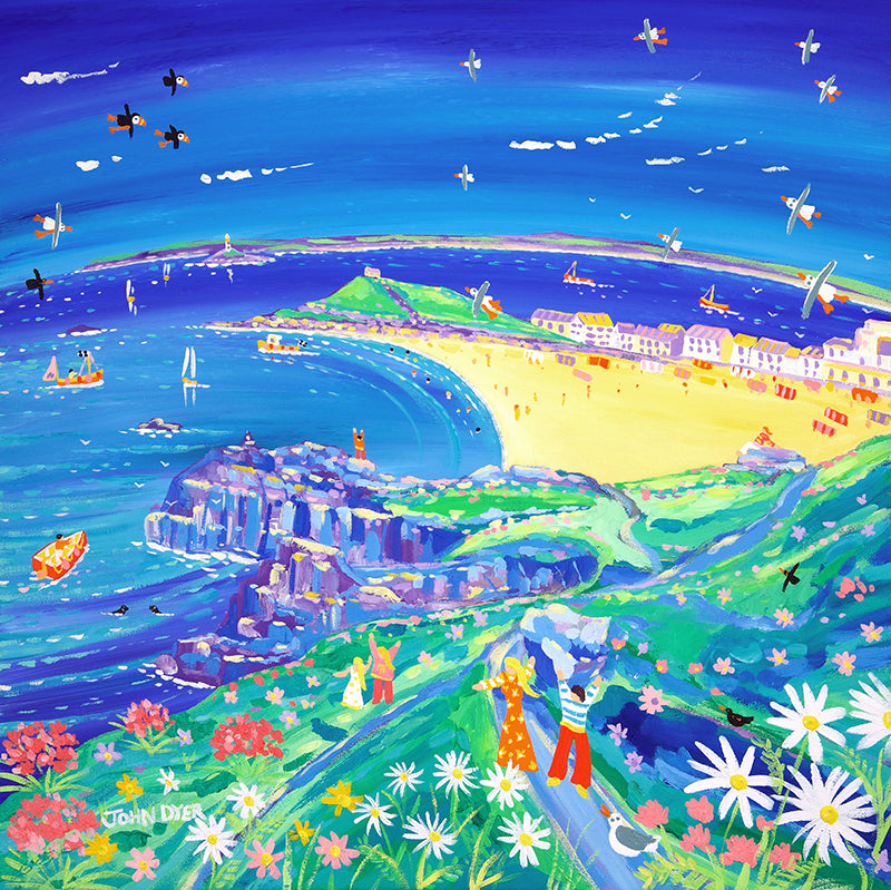 John Dyer Painting. Walking to St Ives, Cornwall.